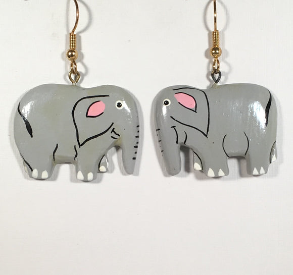 Elephant Dangle Earrings Handmade by Stefano Bali Artisans Factory Prices Collectible