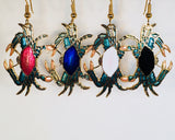 Crab Earrings Stefano Vintage (new) cloisonne dangle earrings, gold plate Factory Prices Collectible