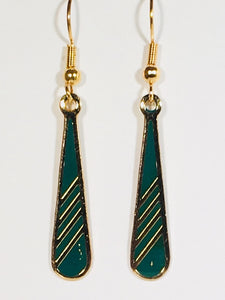 Petite Mist Dangle Earrings Stefano Vintage ( new ) Cloisonne gold plate Factory Prices