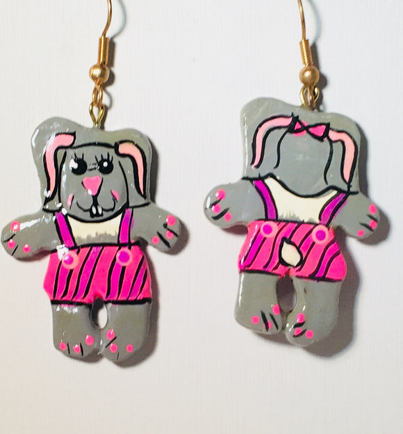 Bunny Girl Earrings Handmade by Stefano Bali Artisans Factory Prices Collectible