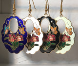 Butterfly & Flowers Earrings. Stefano Vintage (new) cloisonne dangle earrings gold plate Factory Prices  Collectible