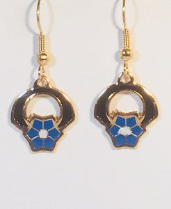 Petite Flower Earrings Stefano Vintage ( new ) Cloisonne dangle earrings, gold plate Factory Prices Collectible
