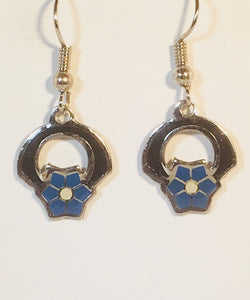 Petite Flower Earrings Stefano Vintage ( new ) Cloisonne dangle earrings rhodium plate Factory Prices Collectible