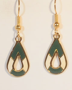 Mocha Petite Stefano Vintage ( new ) Cloisonne dangle earrings gold plate Factory Prices Collectible