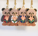 Panda Bear Dangle Earrings Stefano Vintage Cloisonee new gold plate Factory Prices