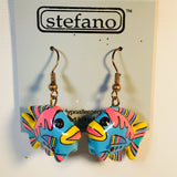 Tropical Fish Dangle Earrings Handmade by Stefano Bali Artisans Vintage Factory Prices Collectible