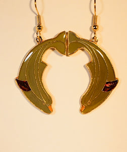 Dolphin Stefano Vintage (new) cloisonne dangle earrings, gold plate Factory Prices Collectible