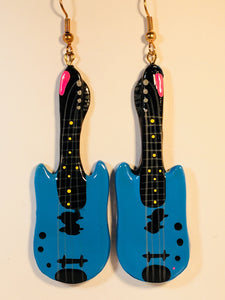 Nashville Guitar Dangle Earrings Handmade by Stefano Bali Artisans Vintage Factory Prices Collectible Collectible