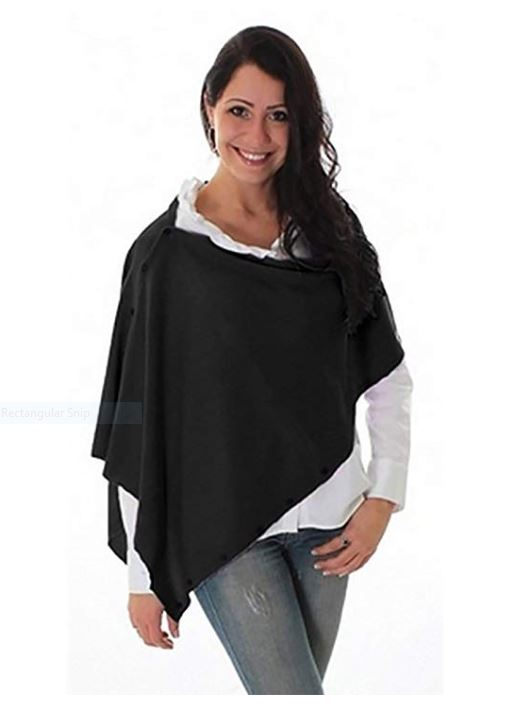 Simply Noelle Bordeaux Wrap/Shawl in Black for Women