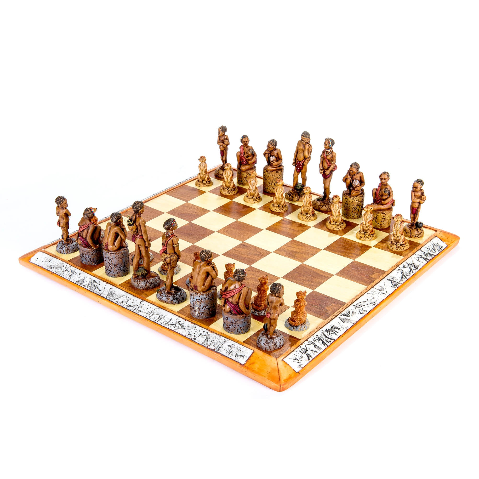 Bushmen Khoisan Chess Set