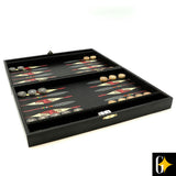 The African animal backgammon case has been manufactured from wood and the backgammon playing discs has been crafted from polystone.