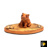 Top view of the baby hippo collectable. Buy this African gift now.