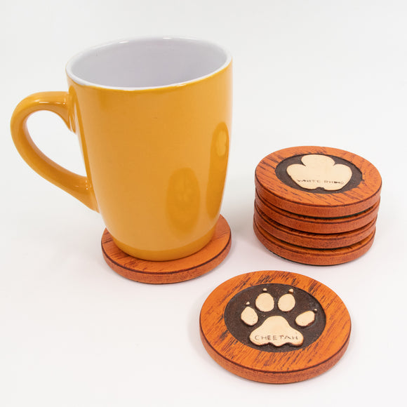 Coasters Footprints Animal