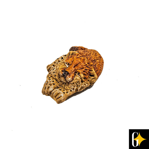 Top view of the cheetah head magnet. Buy this African gift now.