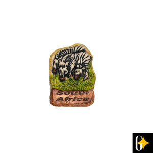 Top view of the zebra herd magnet. Buy this African gift now.