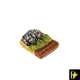 Perspective view of the zebra herd magnet. Buy this African curio now.