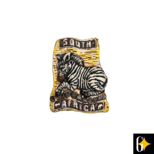 Top view of the zebra magnet. Buy this African gift now.
