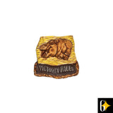 Top view of the Victoria Falls hippo magnet. Buy this African gift now.
