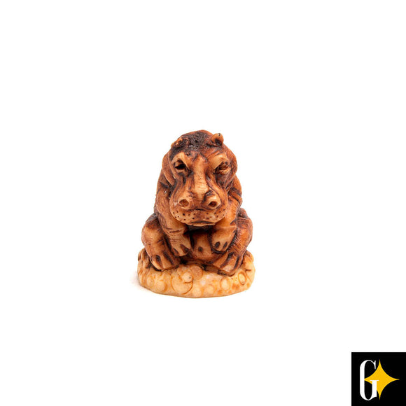 Top view of the hippo collectable. Buy this African gift now.
