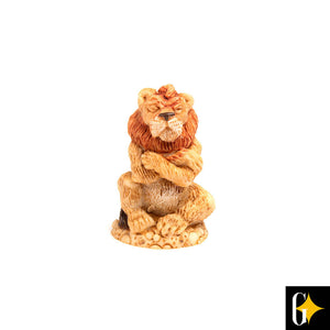 Top view of the lion collectable. Buy this African gift now.