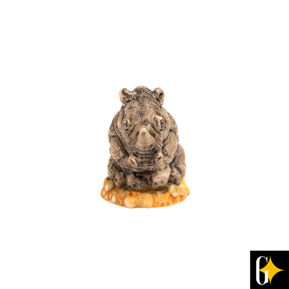 Top view of the rhino collectable. Buy this African gift now.