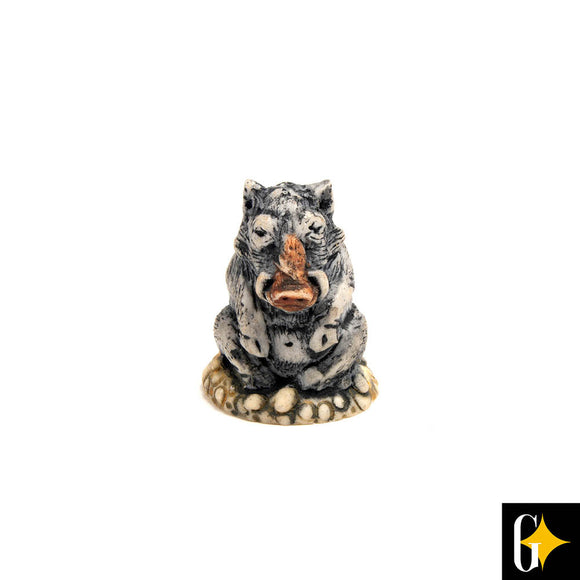 Top view of the warthog collectable. Buy this African gift now.