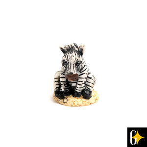 Top view of the zebra collectable. Buy this African gift now.