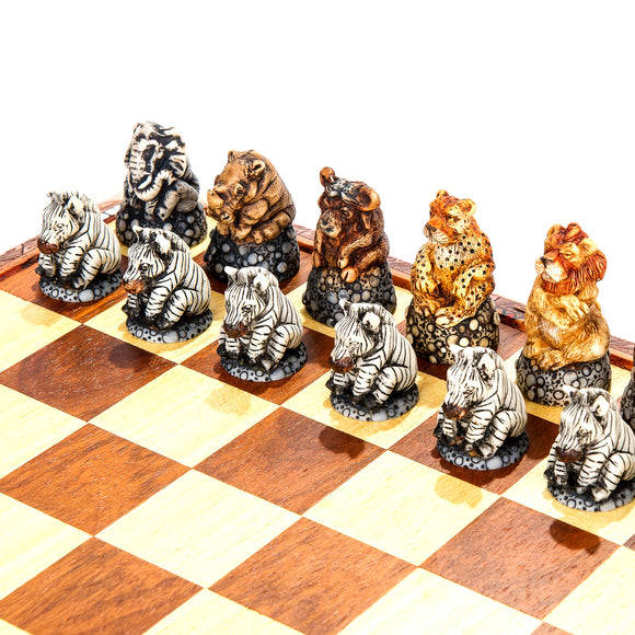 Fat Five & Friends Animal Chess Set