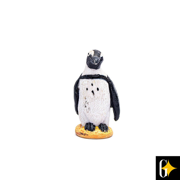 Top view of the penguin figurine. Buy this African gift now.