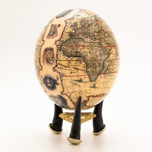Big 5 Map Egg with moulded stand
