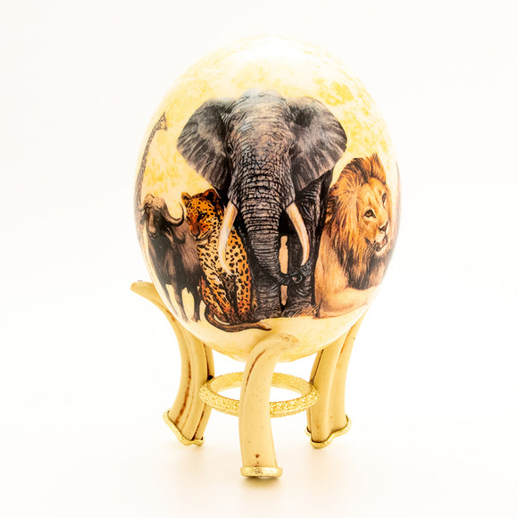 Big 5 Elephant Egg Natural with stand