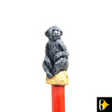 Perspective view of the baboon pencil. Buy this African curio now.