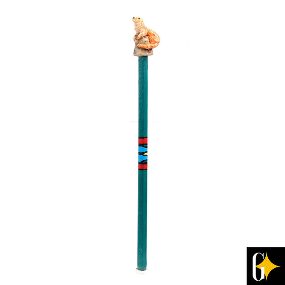Top view of the otter pencil. Buy this African gift now.