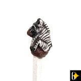 Perspective view of the zebra ona white pencil. Buy this African curio now.