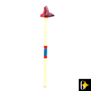 Top view of the red shark pencil. Buy this African gift now.