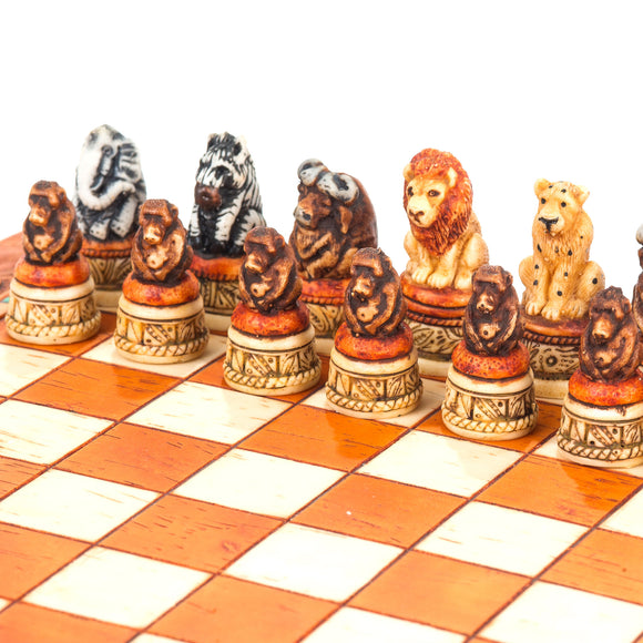 Mini African Animal Chess Set