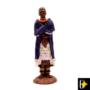 Top view of the Ndebele matron figurine. Buy this African gift now.