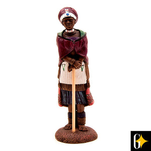 Top view of the Zulu matron figurine. Buy this African gift now.