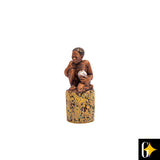 Top view of the water gatherer figurine. Buy this African gift now.