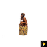 Perspective view of the water gatherer figurine. Buy this African curio now.