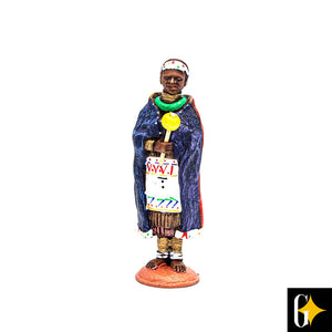 Top view of the Ndebele woman figurine. Buy this African gift now.