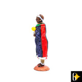Perspective view of the Ndebele woman figurine. Buy this African curio now.