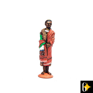 Top view of the Ndebele chief figurine. Buy this African gift now.