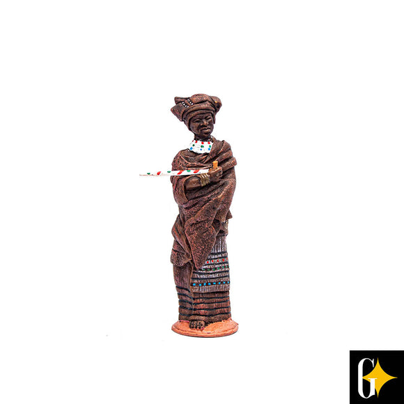 Top view of the Xhosa woman figurine. Buy this African gift now.