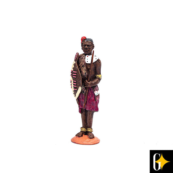 Top view of the Xhosa chief figurine. Buy this African gift now.