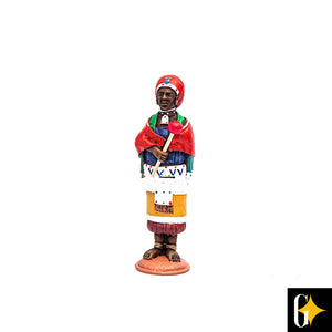 Top view of the Zulu woman figurine. Buy this African gift now.