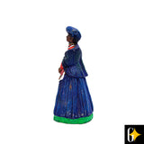 Side view of the Herero woman in blue figurine. Buy this African curio now.