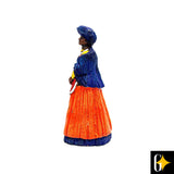 Side view of the Herero woman in orange figurine. Buy this African curio now.