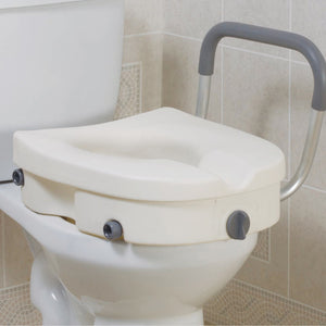 Astounding Raised Toilet Seat With Arms 5 Inch White 300 Lbs Drive Medical Pdpeps Interior Chair Design Pdpepsorg