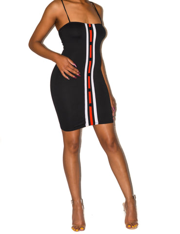 Stripe Body-Con Dress